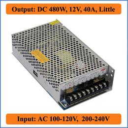 480W 12V 40A Little Switching power supply Voltage Transformer AC Triple Output 100V-240V to DC 12V LED strip light bulb