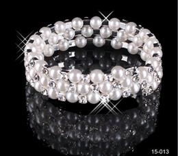 Wholesale Silver Rhinestone Cuff Bracelet - Free Shipping 2017 Amazing New without tags Silver plated Rhinestones Diamond Designer Evening Bangles Bridal Accessory Jewelry 15-011