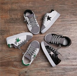 Wholesale The same paragraph Song Zhongji Children Shoes autumn version pentagram leather soft soled shoes Boys and girls casual shoes size26