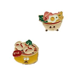 Wholesale X121 Cartoon Egg Noodles Cute Metal Brooch Pins Button Pins Gift