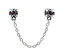 HYWo Thread Bead Charm Fit pandora Multi-type bracelet Silver 925 Safety Chains for Charm Bracelets and Necklaces DIY Jewelry Sets