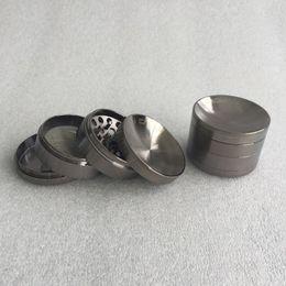 Wholesale 2 inch Chromium Crusher Tobacco Grinder Herb Grinder Metal Grinder Zinc Alloy Concave Surface CHROMIUM CRUSHER Grinder DHL