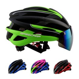 Wholesale Hot Goggles Cycling Helmet Casco Ciclismo Men Women s Ultralight MTB Mountain Road Bike Bicycle Helmet Bisiklet Kask Gift Bag