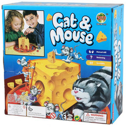 Funny Cat and Mouse Eat Cheese Kids Children Great Family Fun Board Game Kids toy gift