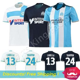 Wholesale Best Thai Quality Maillot De Foot marseille home away Soccer Jerseys home marseille MENDES GIGNAC PAYET VALBUENA Jerseys