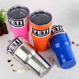 Wholesale 25sets Vacuum Vehicle oz Yeti Rambler YETI Beer Coolers Rambler Tumbler Stainless Steel Double Walled Travel Mug YETI cups