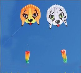 Wholesale high quality m lovely dog soft kite ripstop nylon fabric kite weifang large kite wheel walk in sky animal kite