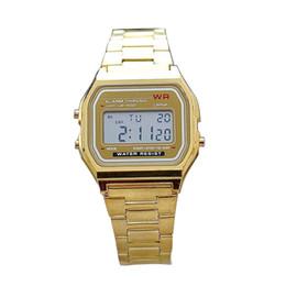 Wholesale Gold Silver Electron watch Metal strap Men Business Led Wristwatch Top Brand Dress Watch for Sale