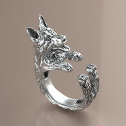 2015 Time-limited Rings Anel Vintage Free Shipping Retro German Shepherd Ring Free Size Hippie Animal Dog Summer Jewelry For Pet