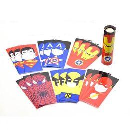 Wholesale 18650 Battery PVC Sleeve Skin Superman Batman Captain America Hero Shrinkable Tubing Wrap Heat Shrink Re wrapping batteries FREE SHIP