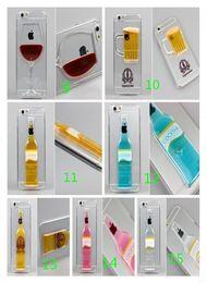 Cas transparents pour iphone 4s à vendre-Étuis à vaisselle pour iphone 5S 4S 6 Plus Verre à sablier en forme de verre à sablier Design Verre transparent pour étui de protection arrière en caoutchouc DHL
