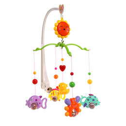 Wholesale Baby Crib Bell Mobile Wind up Music Box Cute Bed Toy Cartoon Gift Nursery PNLO