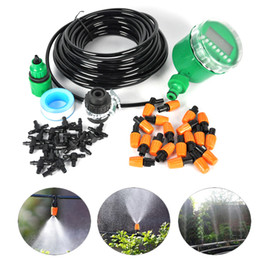 Wholesale 15M Automatic Spray Drip Irrigation System Self Watering Garden Hose Kits with Connector Adjustable dripper