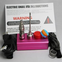 Wholesale Electronic E nail E temperature control box PID V D nail Dnail kit dab rig Ti Nail for glass bong water pipe