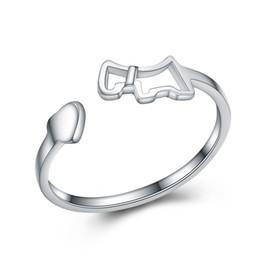 Precio más bajo por mayor de china en venta-Apertura de diseño de tamaño ajustable genuino 925 plata de ley llano anillo de joyería precios bajos China al por mayor mercado de joyería