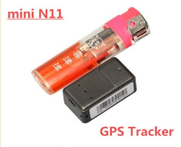 Wholesale New N11 Mini Realtime GSM GPRS GPS Tracker KID Car Dog System Tracker Device Locator Positioning Tracker Telemonitoring Listen