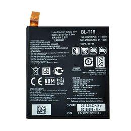 Wholesale 100 Original New Internal BL T16 mAh Li ion Polymer Mobile Phone Battery For LG G flex Vu Vu4 H950 H955 H959