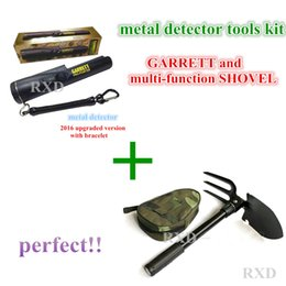 Wholesale NEW upgraded Sensitive Garrett Metal Detectormulti function shovel Pro Pointer Pinpointing Hand Held Metal Detector KIT