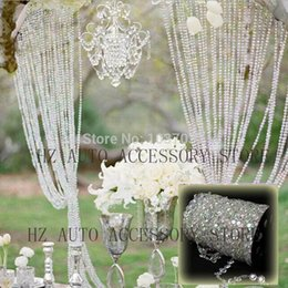 Wholesale 30m DIY Iridescent Garland Diamond Acrylic Crystal Beads Strand Shimmer Wedding decoration