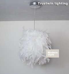 New store promotion Modern plumage plume style white Restaurant hanging light feather dinning room pendant lamp
