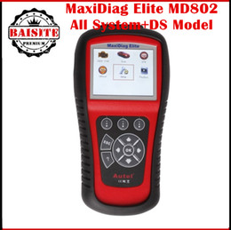 Wholesale 2016 Best Quality original AUTEL MD802 Pro Maxidiag Elite ALL SYSTEM ENG ABS SRS EPB Scanner DS Model Update Online free dhl