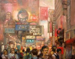Wholesale City Scene Hong Kong China City VIEWS Pure Hand Painted abstract Art Oil Painting On Canvas any customized size accepted