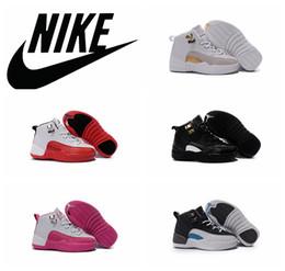 online shopping Nike Air Jordan Retro Girls Kids Basketball Shoes High Quality Nike dans children Sneakers jordans AJ12 boys girls shoes size
