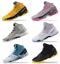 Wholesale 2016 Newest Curry Mens Basketball Shoes Sneakers Retro Signature Stephen Curry Trainer Curry s Basket ball Shoe Sports Boots Size