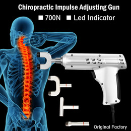 Wholesale 700N Professional Heads Adjustable Intensity Medical Therapy Impulse Chiropractic Adjusting Instrument Activator Electric Correction Gun