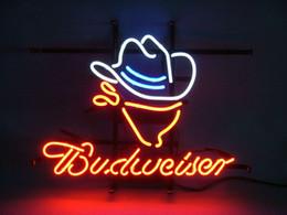 2017 signes de cow-boy 17 * 14 BUDWEISER COWBOY Business Store Bière Bar Pub Club Affichage Neon Light Sign peu coûteux signes de cow-boy