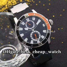 Wholesale New Luxury Brand Ulysse Maxi Marine Diver Ref Mens Watch Automatic Taucher mm Silver Black Dial Gents Cheap Best Mens Watches