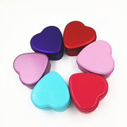 Wholesale 500pcs Colorful Heart Shape Tin Box Tea Candy Chocolate Jewelry Storage Box Christmas Gift Container Case ZA0812