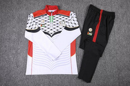 Wholesale 2016 new Palestino soccer tracksuit Palestine football survetement chandal top quality Palestine training football sweatershirt pants