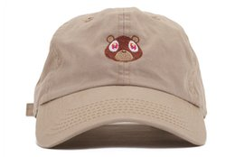 Wholesale New Casquette pablo Kanye West Ye Bear Dad Hat EXCLUSIVE Release Limited Unisex Tan Limited cap Rare I Feel Like Pablo hats play ball caps