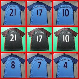 Wholesale Best thailand quality manchesteers soccer jersey city home away KUN AGUERO DE BRUYNE silva football shirt jersey