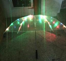 Wholesale Hot Sale colors changing LED luminous transparent umbrella with flashlight function Un paraguas Led O Guarda Chuva de Luz hight qualit