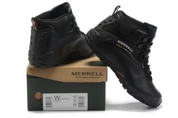 Wholesale Merrel Winter autumn outdoor warm hiking shoes With Plus velvet snow waterproof boots black brand shoes best quality wholesales