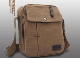 Mens Canvas Leather Satchel School Military retro Shoulder Bag Messenger Bag multi-function casual style for men