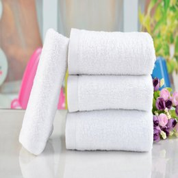 Wholesale Happy Pc Soft White Cotton cm Hotel Bath Towel Washcloths Hand Towels