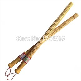 Wholesale 2pcs Bamboo Brush Wood Body Massage Stick Fitness Massage Pat