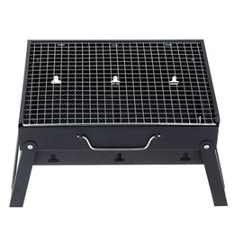 Wholesale Portable Folding Charcoal BBQ Grill for Person Outdoor Camping Barbecue Roasting Picnic Family Party Grill Fast Shipping H16491