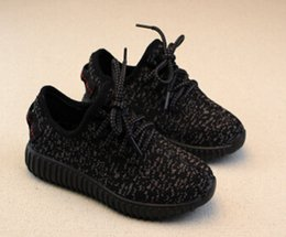 Wholesale Kids shoes Boost pink pirate black Running Shoes Kanye West Boost Children Athletic Running Shoes Boy Girls athletics shoes Size
