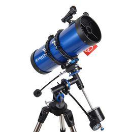 Wholesale Meade F1000 Polaris mm German Equatorial Reflector Telescope w Stainless steel Tripod Blue W2530L