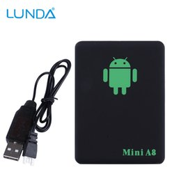 Wholesale Mini A8 Newest GPS Tracker Locator Real Time Car Kids Pet GSM GPRS GPS Tracking Power adapter High Quality