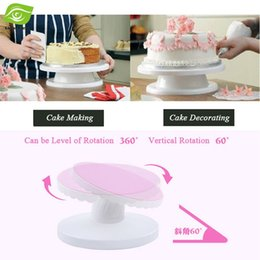 Wholesale Rotating Revolving Cake Turntable Decorating Stand Platform Adjustable Tilting Cake Turntable
