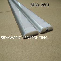 Wholesale 10pcs m pc led extrusion wide edge led aluminium profile for strip mm PCB board led bar light SDW