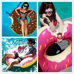 fashion 120cm Gigantic Donut Swimming Float Inflatable Swimming Ring Adult pool floats 2colors beach and swimming toy D820