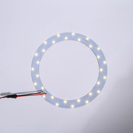 Wholesale 2pcs W W W SMD Ceiling Circular Magnetic Light Lamp AC85 V AC220V Round Ring LED Panel board with Magnet
