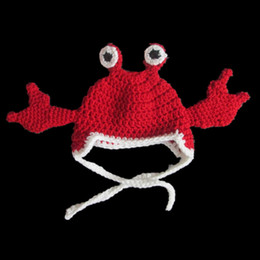 Super Cool Big Red Crab Hat,Handmade Knit Crochet Baby Boy Girl Animal Earflap Beanie,Child Winter Hat,Infant Toddler Photo Prop