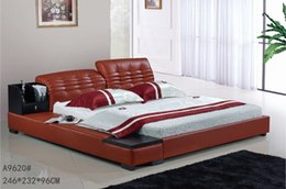 Wholesale GENUINE LEATHER RED ELEGANT STYLE MODERN SIMPLE DOUBLE PERSON FASION FURNITURE GOOD QUALITY cm AFA9620